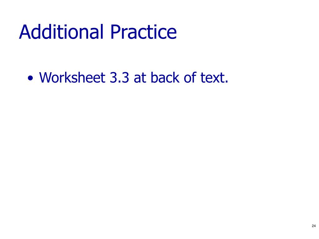 Additional Practice