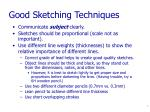 good sketching techniques