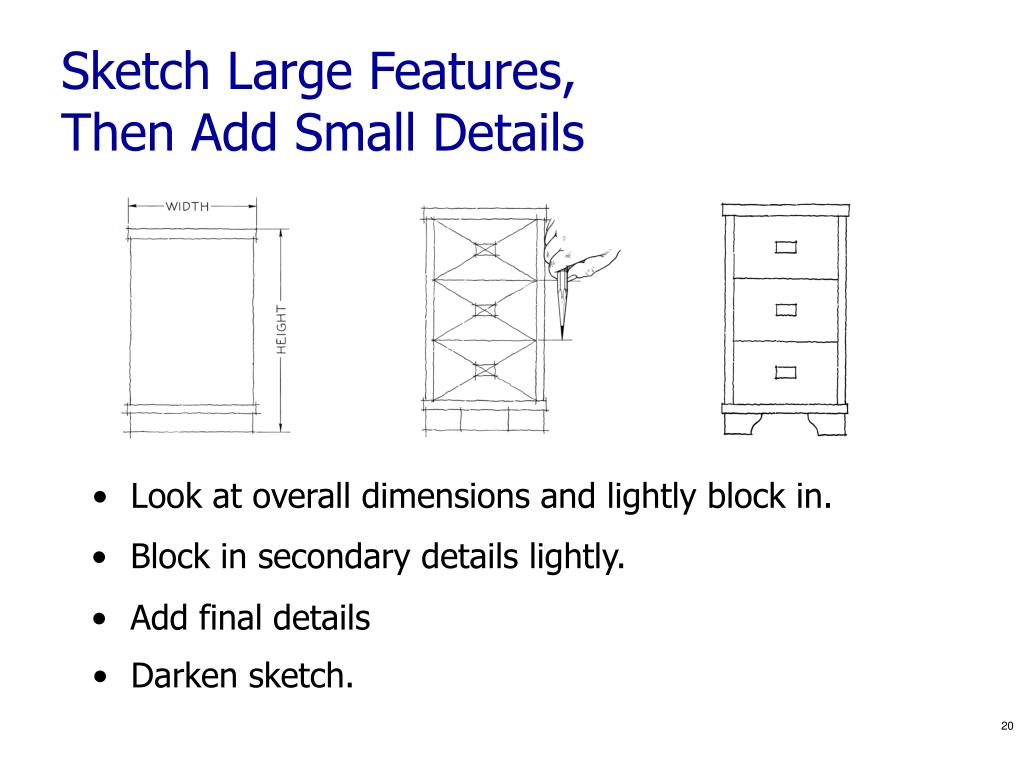 Sketch Large Features,