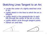 sketching lines tangent to an arc