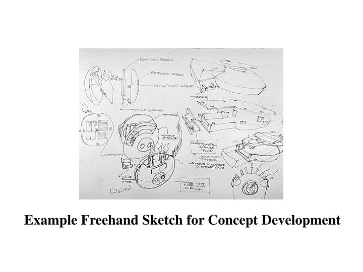 Example Freehand Sketch for Concept Development