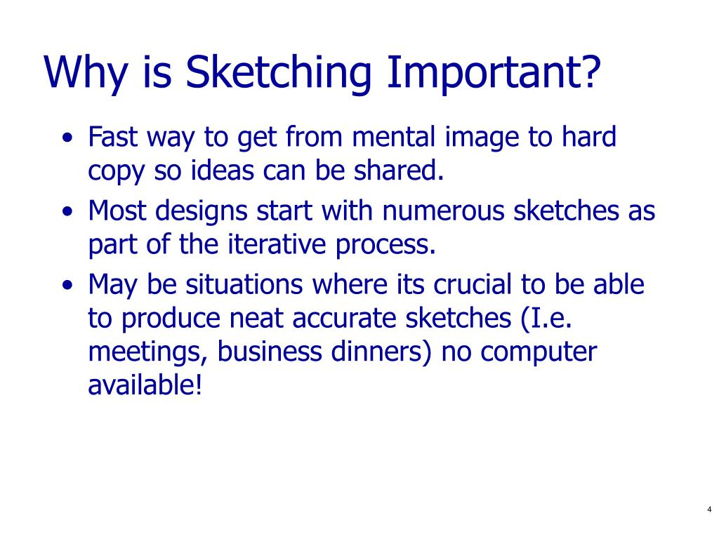 Why is Sketching Important?