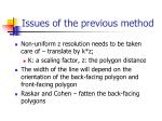 issues of the previous method