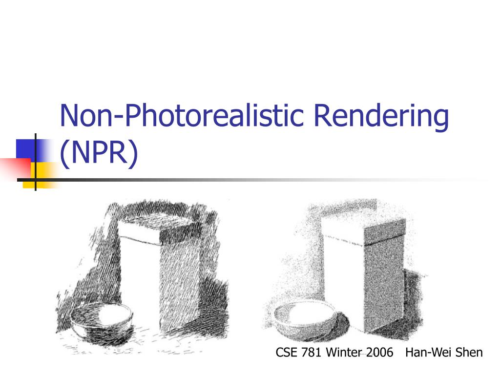 non photorealistic rendering npr