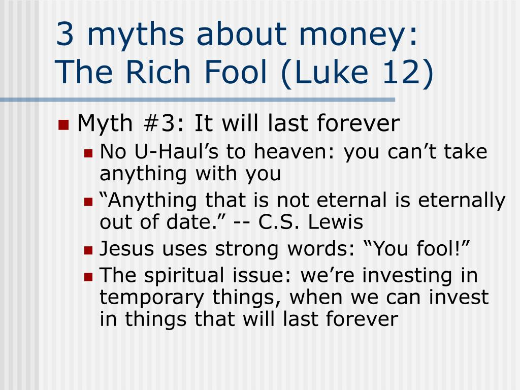 3 myths about money: