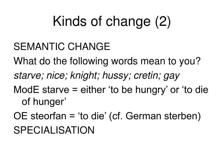 Change шпаргалка semantic