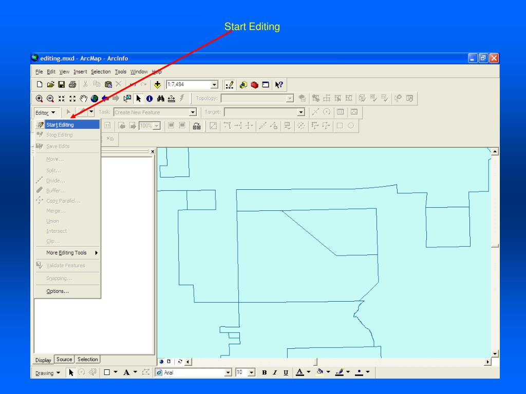 PPT - Basic Editing in ArcGIS PowerPoint Presentation - ID:28018
