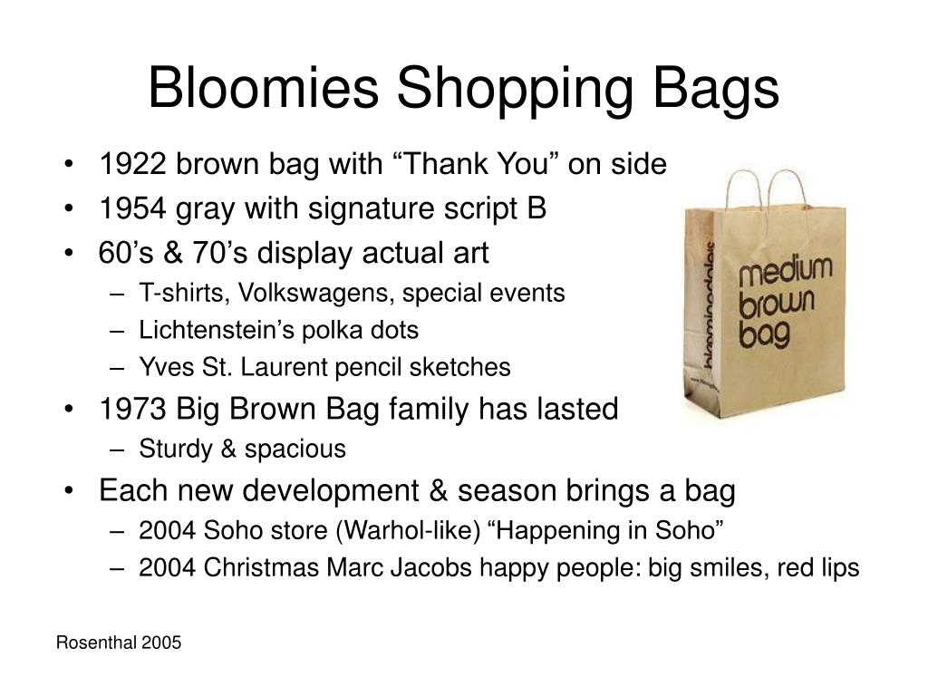 Bloomies Shopping Bags