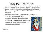 tony the tiger 1952