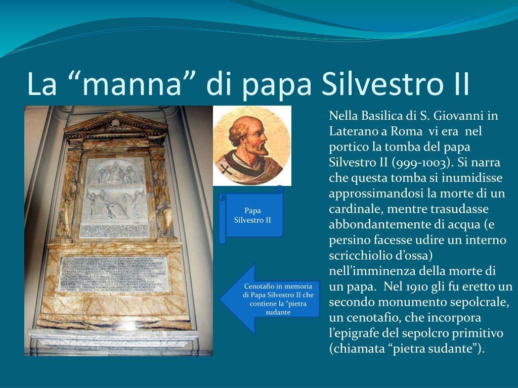 """La """"manna"""" di papa Silvestro II"""