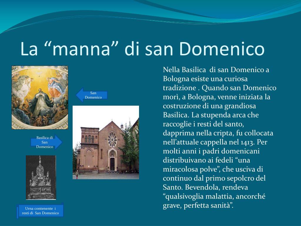 """La """"manna"""" di san Domenico"""