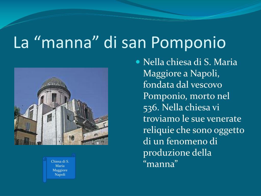"""La """"manna"""" di san Pomponio"""