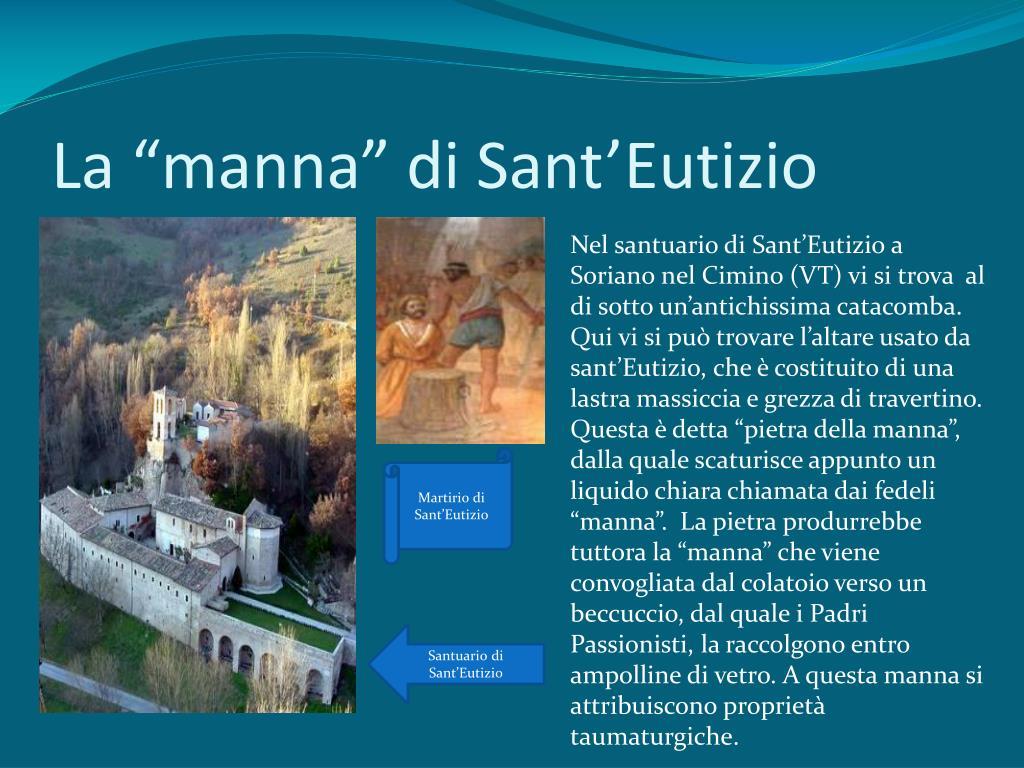 """La """"manna"""" di Sant'"""