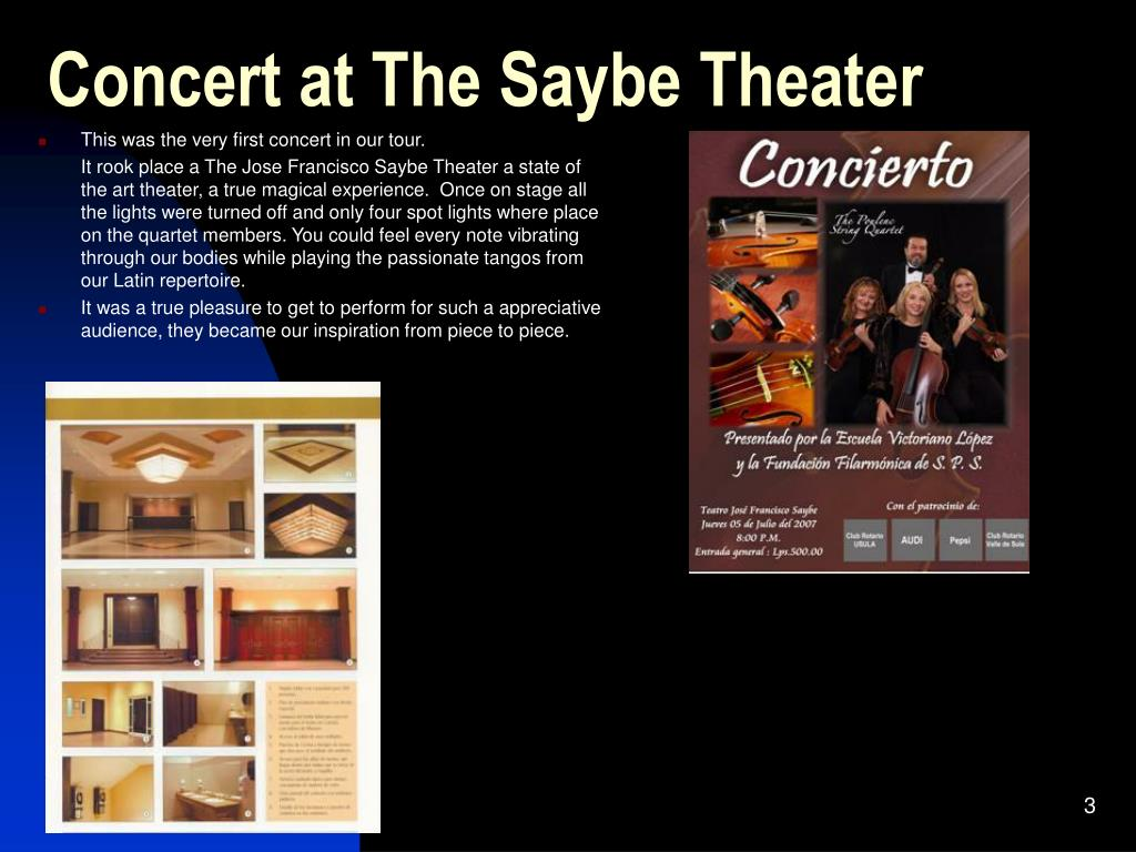 Concert at The Saybe Theater