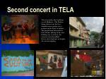 second concert in tela