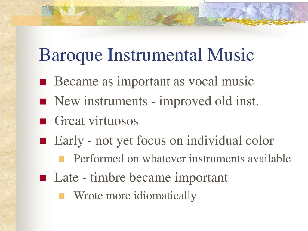 baroque instrumental music l.
