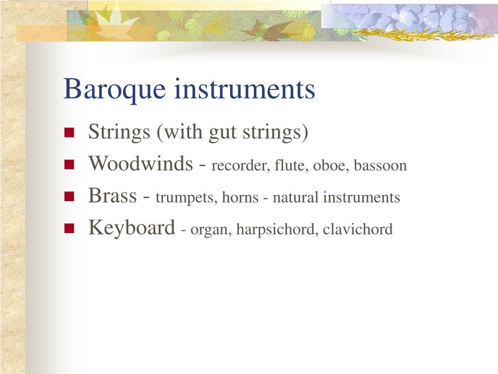 Baroque instruments
