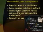 gershwin jazz composer