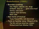 redefinition 1960