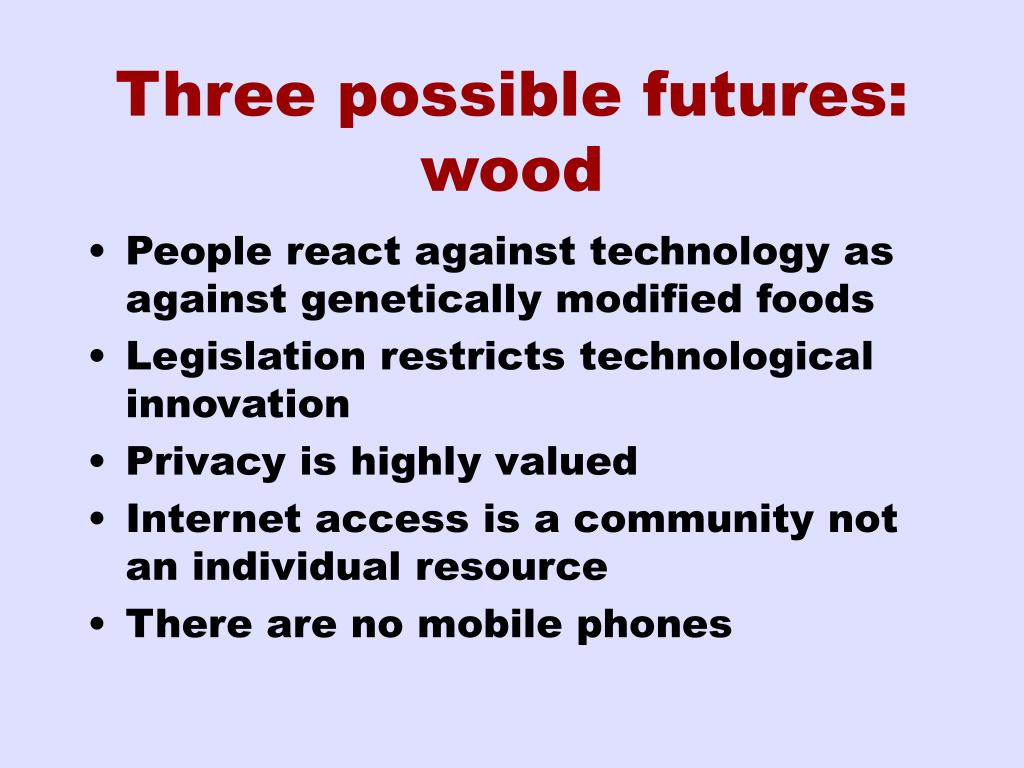 Three possible futures: wood