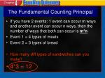 the fundamental counting principal