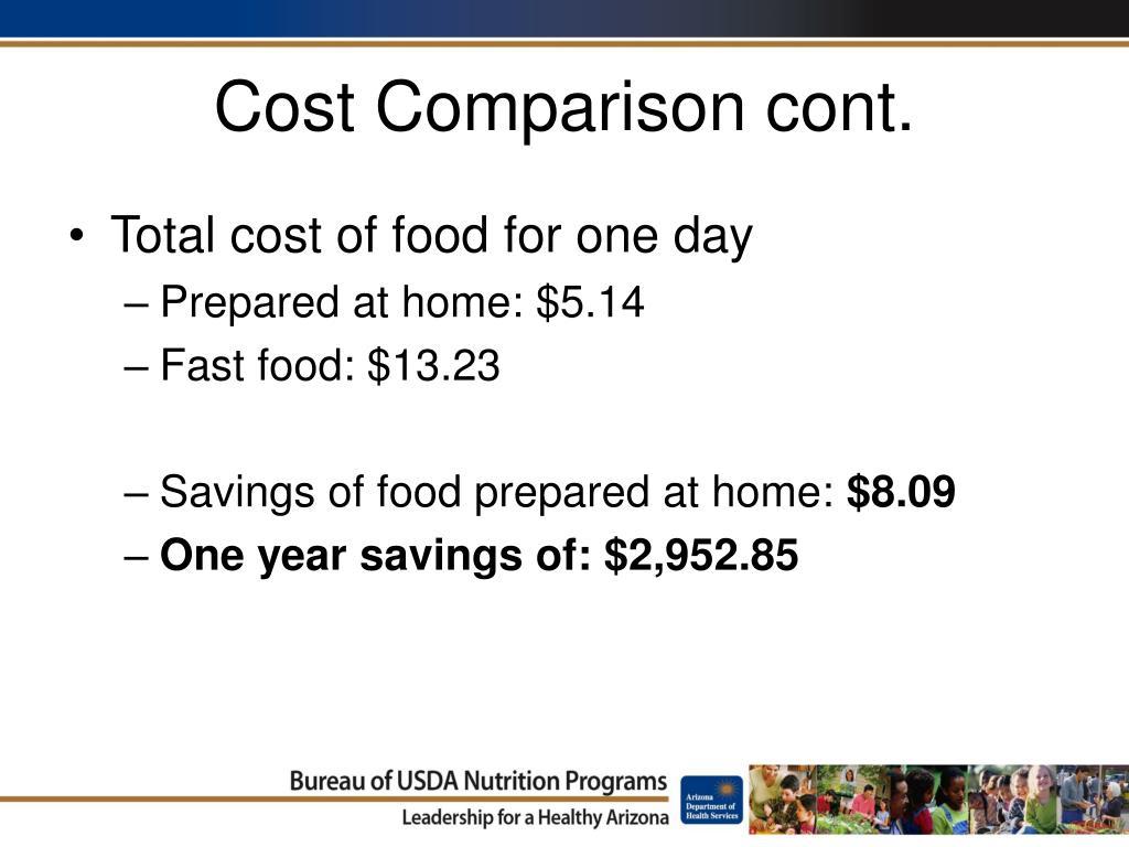 Cost Comparison cont.