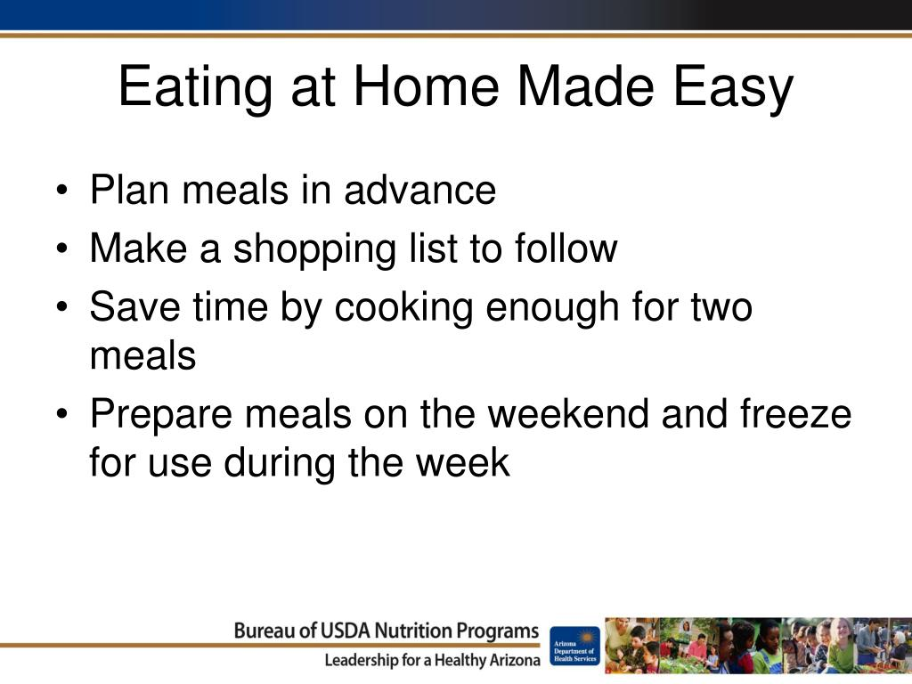 Eating at Home Made Easy