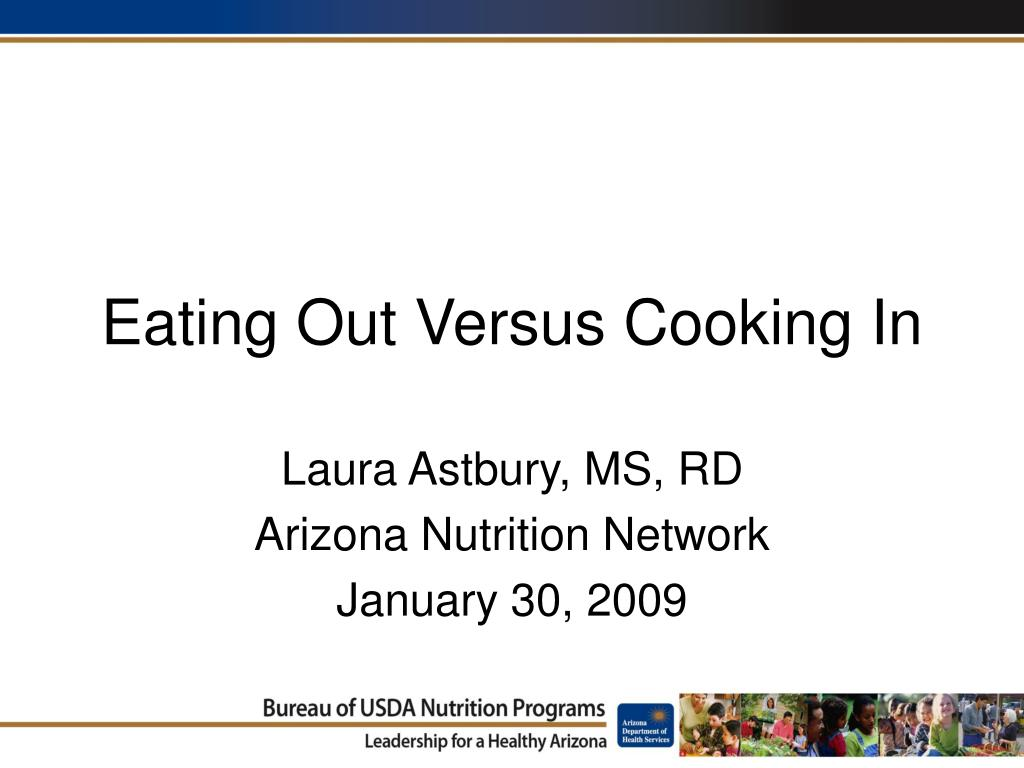 eating out versus cooking in l.