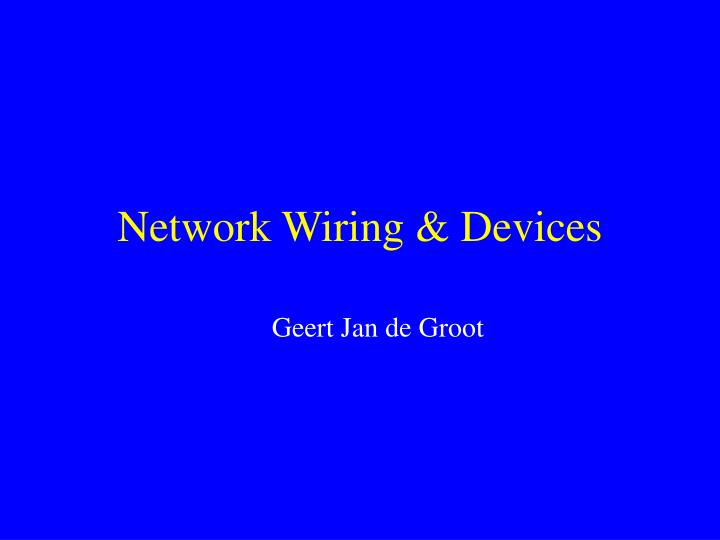 network wiring devices n.