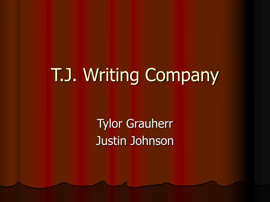 t j writing company l.