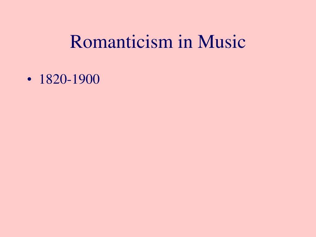 romanticism in music l.
