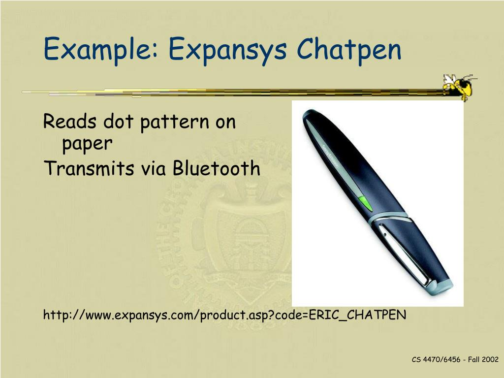 Example: Expansys Chatpen