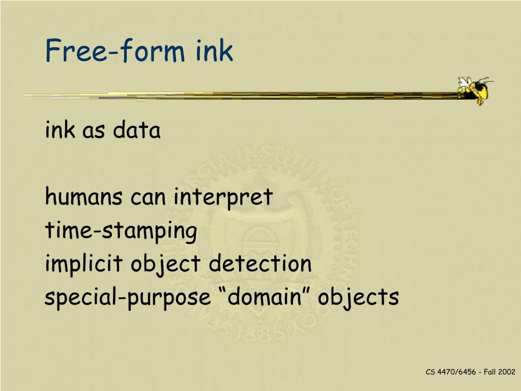 Free-form ink