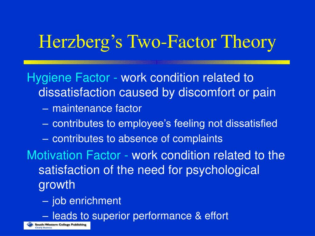 hertzbergs two factor theory of motivation essay What is herzberg two factor theory - essay example herzberg theory of motivation let us find you another essay on topic what is herzberg two factor theory.
