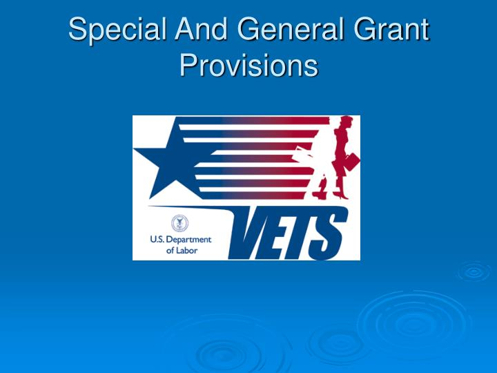 special and general grant provisions n.