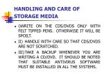 handling and care of storage media