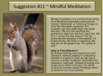 suggestion 11 mindful meditation