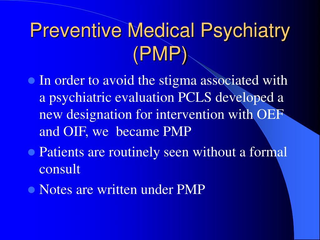 Preventive Medical Psychiatry (PMP)
