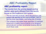 abc profitability report
