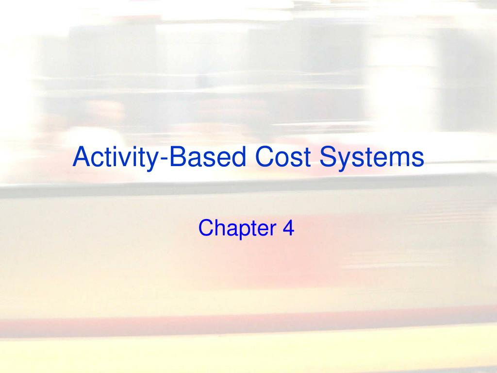 activity based cost systems l.