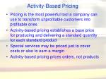activity based pricing