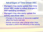 advantages of time driven abc