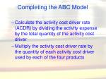 completing the abc model27