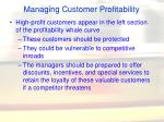 managing customer profitability