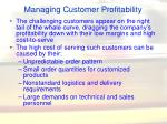 managing customer profitability65