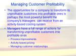 managing customer profitability66