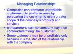 managing relationships