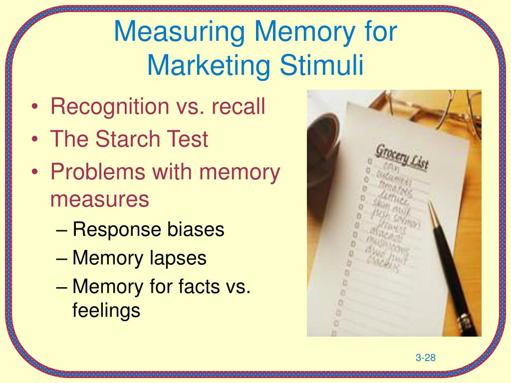 Measuring Memory for