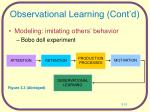 observational learning cont d
