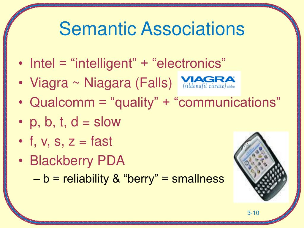 Semantic Associations